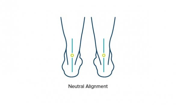 Illustration showing feet and ankles with neutral alignment