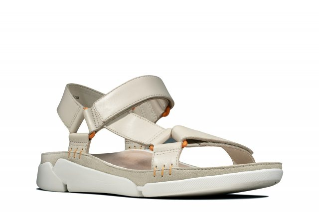 Clarks Tri Sporty women's sandals in white leather